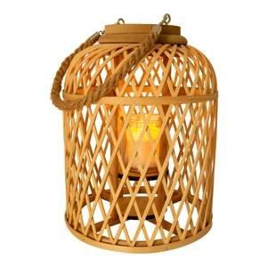 Näve Solárna LED lucerna Kôš bambus výška 29cm prírodná
