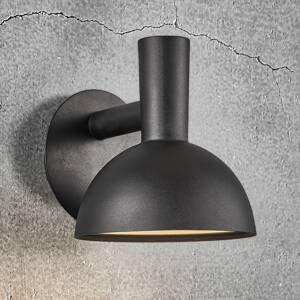 Nordlux Vonkajšie nástenné svietidlo Arki čierna Ø 20cm