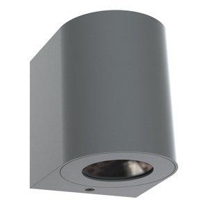 Nordlux Vonkajšie nástenné LED Canto 2, 10cm, sivé