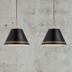 Nordlux Závesná lampa Pine, 2-plameňová, čierna