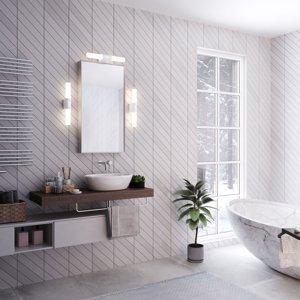 Nordlux Kúpeľňové LED svetlo Helva Double Basic, biele