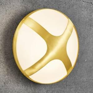 Nordlux Vonkajšie nástenné svietidlo Cross mosadz Ø 26cm