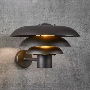 Nordlux Vonkajšie nástenné svietidlo Kurnos čierna Ø 35cm