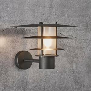Nordlux Vonkajšie nástenné svietidlo Bastia čierna Ø 35cm