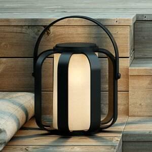 Nordlux Solárne dekoračné LED svetlo Bob, čierne z kovu