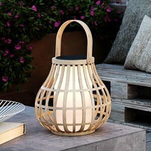 Nordlux Solárne dekoračné LED svetlo Leo, bambusové drevo