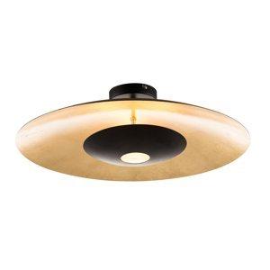 Nino Leuchten Stropné LED Minas v čierno-zlatej stmievateľné