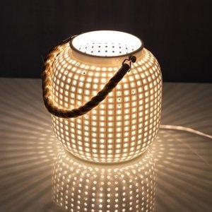 Nino Leuchten Stolná lampa Bola, biela