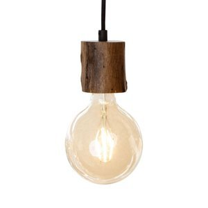 Nino Leuchten Závesná lampa Tronco, 1-pl., drevené kyvadlo 8cm