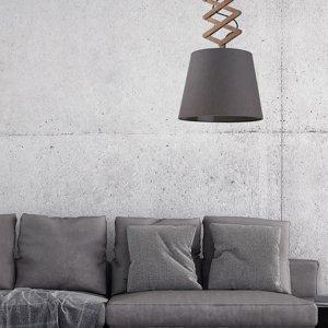 EULUNA Závesná lampa Tosca M nožnicové rameno z dreva