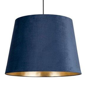 NOWODVORSKI LIGHTING Závesná lampa Cone M zamat. tienidlo Ø46,5cm modrá