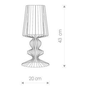 NOWODVORSKI LIGHTING Stolná lampa Aveiro S z kovových vzpier, čierna
