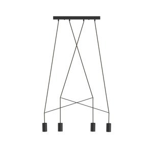 NOWODVORSKI LIGHTING Závesná lampa Imbria, 4-plameňová, čierna