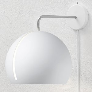 NYTA Nyta Tilt Globe Wall nástenné so zástrčkou biele