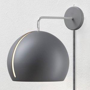 NYTA Nyta Tilt Globe Wall nástenné so zástrčkou, sivé
