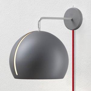NYTA Nyta Tilt Globe Wall nástenné kábel červený, sivá