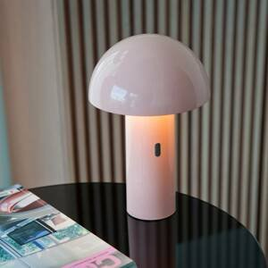NEWGARDEN Newgarden Enoki stolná LED lampa s batériou, biela
