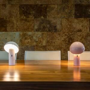 NEWGARDEN Newgarden Enoki stolná LED lampa batéria, ružová