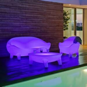 NEWGARDEN Newgarden Aruba LED kreslo, solár + batéria