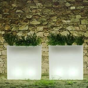 NEWGARDEN Newgarden Junco LED kvetináč hranatý solár+batéria