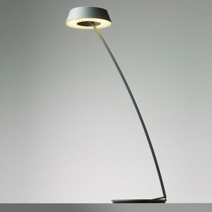 OLIGO OLIGO Glance stolná LED lampa zakrivená sivá matná