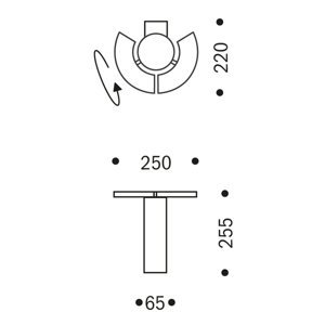 OLIGO OLIGO Trinity nástenné LED, 2 pohyblivé segmenty