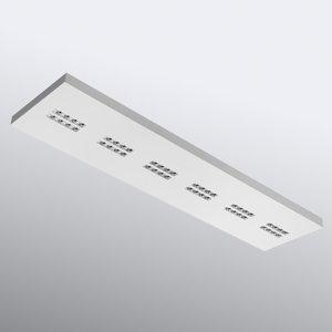 OMS Declan II - obdĺžniková LED stropná lampa, 3.000 K