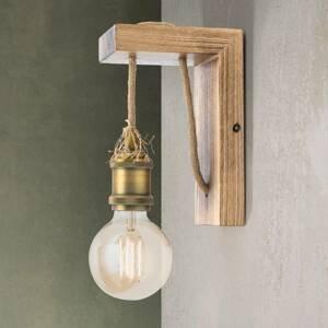 Orion Nástenná lampa Bassena z pravého bledého dreva