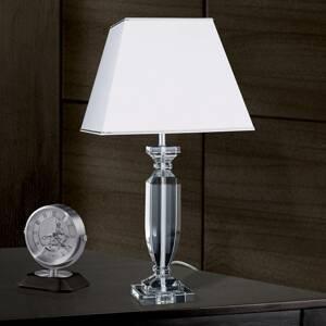 Orion Stolná lampa Pohár s krištáľmi chróm/biela