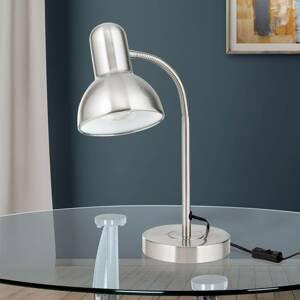 Orion Lampa na písací stôl Nemo, flexibilná, matný nikel