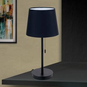 Orion Stolná lampa Ludwig s USB portom čierna