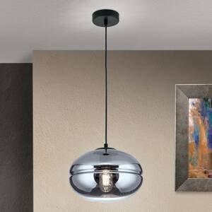 Orion Závesná lampa Richard, kov čierna, sklo dymové