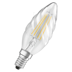 OSRAM Sviečková LED filament žiarovka E14 4W točená