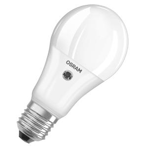 OSRAM LED žiarovka E27 11W teplá biela snímač denného