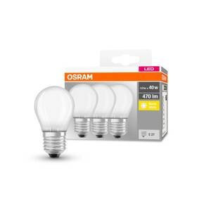 OSRAM OSRAM LED kvapka E27 P40 4W 2700K 470lm matná 3ks