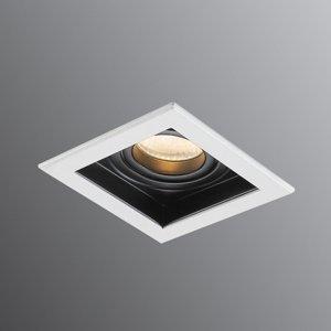 Pamalux Moderné Downlight Sulima, bielo-čierne