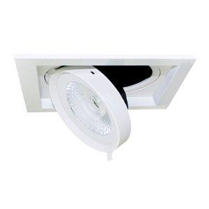 Pamalux Zapustené LED Quado1, 1-pl., stmievateľné 38°