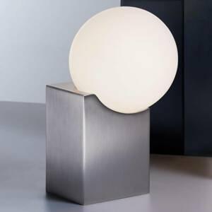 Pujol Stolná lampa Cub 17,5cm, matný nikel