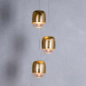 PRANDINA Prandina Gong mini S1 závesná lampa zlatá