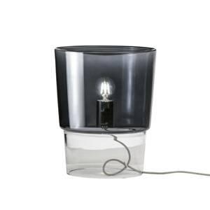 PRANDINA Prandina Vestale T3 stolná lampa dymová sivá/číra