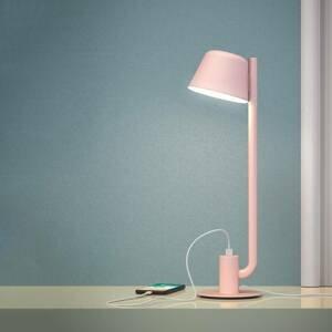 PRANDINA Prandina Bima T1 USB stolná LED lampa, ružová