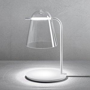PRANDINA Prandina Sino T3 stolná LED lampa číra/biela matná