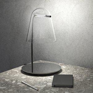 PRANDINA Prandina Sino T3 stolná LED lampa číra/čierna