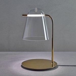 PRANDINA Prandina Sino T3 stolná LED lampa číra/zlatá