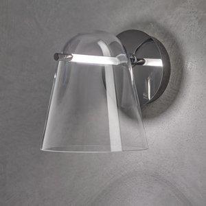 PRANDINA Prandina Sino W3 nástenné LED svetlo číre/čierne