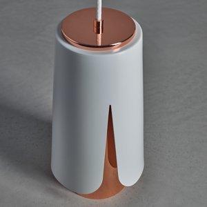 PRANDINA Prandina Tulipa S3 závesná lampa biela matná/meď