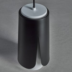 PRANDINA Prandina Tulipa S3 závesná lampa čierna/biela