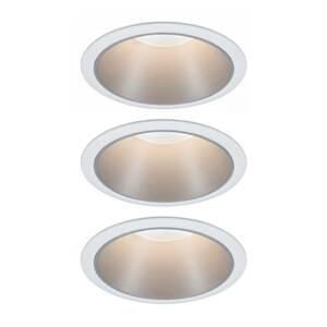 Paulmann Paulmann Cole bodové LED, striebro-biele 3 kusy