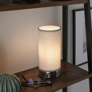 Paulmann Paulmann Pia stolná lampa z látky, svetlosivá