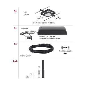 Paulmann Paulmann Wire MacLED lankový LED systém 5pl čierna